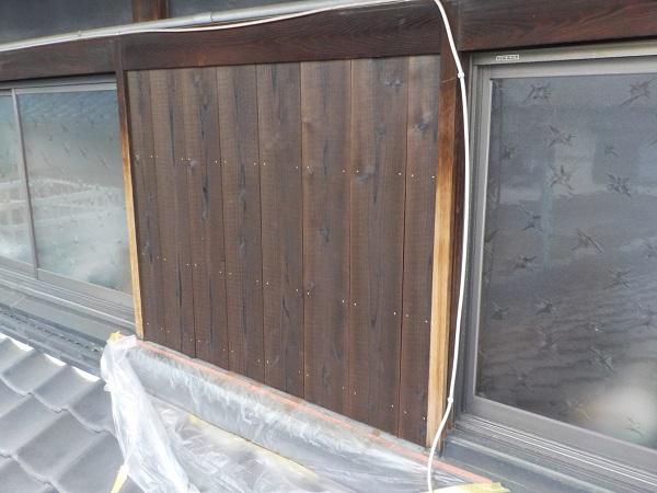東京都杉並区 焼杉(焼板)の張替え工事 (3)