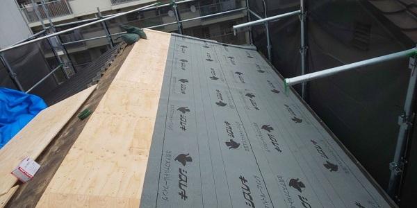 東京都中野区 屋根葺き替え工事 スレート屋根 アスベスト ガルバリウム鋼板 (4)