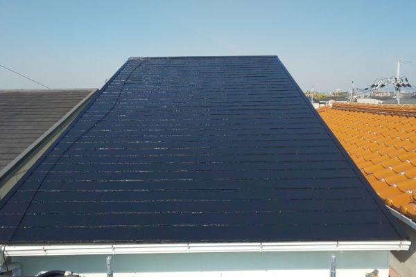 東京都杉並区 屋根塗装 アステック スーパーシャネツサーモF (2)
