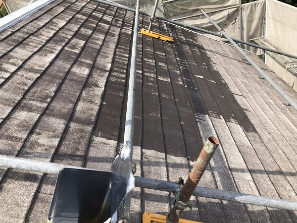 東京都杉並区 屋根塗装 タスペーサー 3分艶 (3)