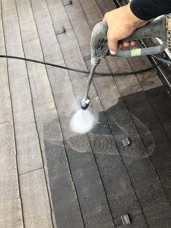 東京都杉並区 屋根塗装 タスペーサー 3分艶 (2)