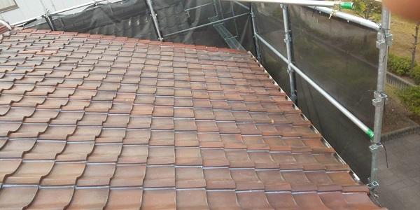 東京都中野区 屋根工事 瓦屋根・漆喰工事 瓦工事完了 (1)