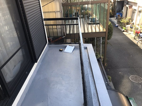 東京都杉並区 防水工事 ベランダ 施工不良 雨漏り  (1)