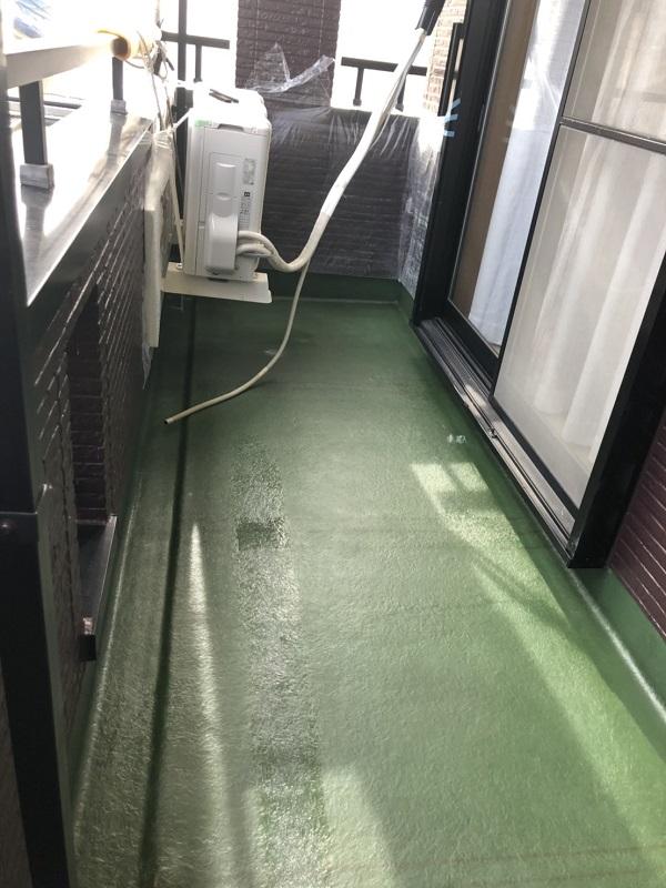 東京都杉並区 防水工事 ベランダ FRP防水工事 2プライ工法 (1)