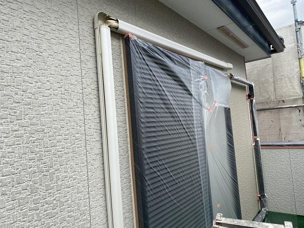 東京都杉並区 外壁塗装 下地処理 養生作業 (4)