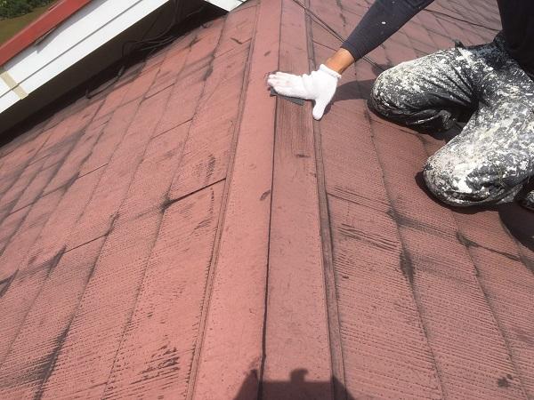 東京都中野区 屋根塗装 ベランダ床塗装 高圧洗浄 (5)