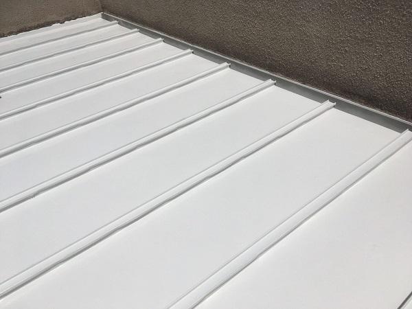 東京都杉並区 ベランダ床 遮熱塗装 (1)