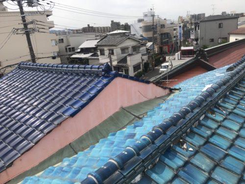 東京都杉並区 屋根葺き替え工事 ガルバリウム鋼板 (2)