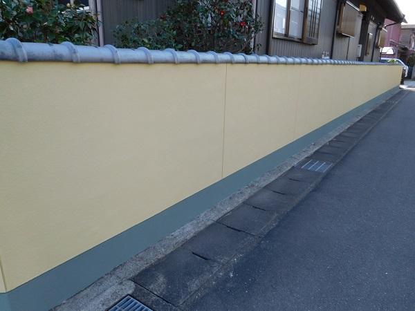 東京都世田谷区 外壁塗装 外構塗装 高圧洗浄 巾木塗装 (5)