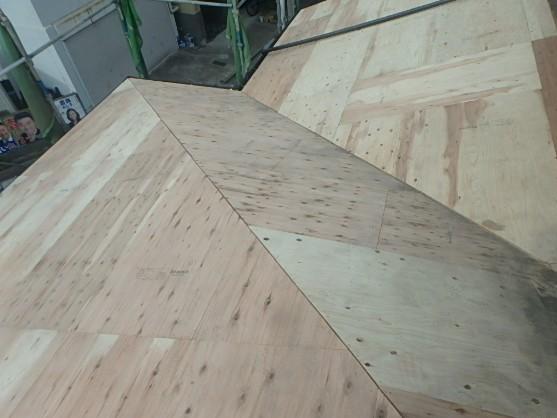 東京都杉並区 屋根葺き直し工事 瓦屋根撤去、下地作り直し (3)