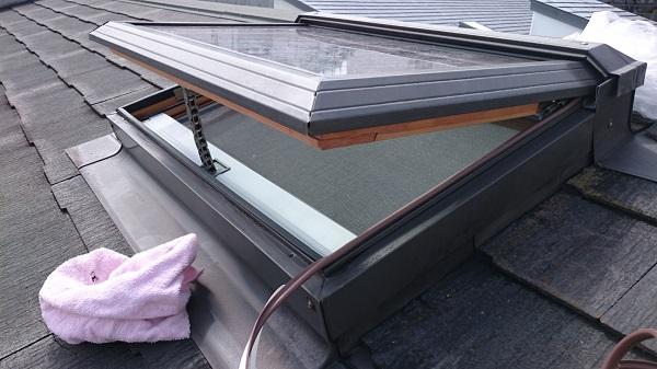 東京都世田谷区 屋根塗装 天窓改修 雨漏り (1)