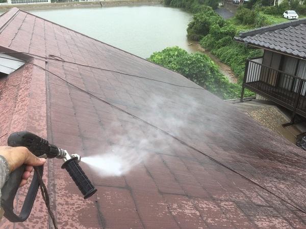 東京都中野区 屋根塗装 ベランダ床塗装 高圧洗浄 (2)
