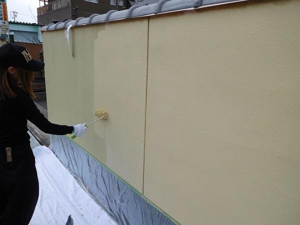 東京都世田谷区 外壁塗装 外構塗装 高圧洗浄 巾木塗装 (4)