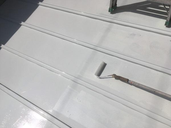 東京都杉並区 ベランダ床 遮熱塗装 (4)