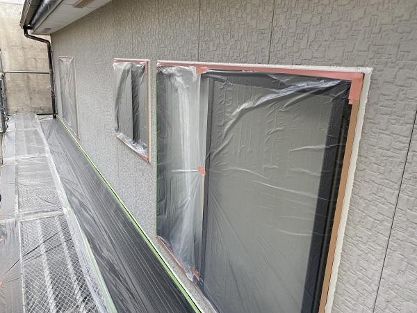 東京都杉並区 外壁塗装 下地処理 養生作業 (1)