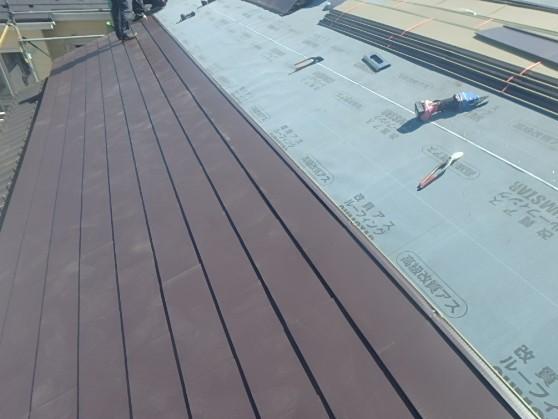 東京都中野区 屋根葺き直し 瓦屋根からガルバリウム鋼板に4