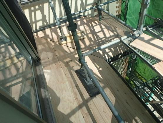 東京都中野区 屋根カバー工法(重ね葺き工事) スレート屋根(コロニアル)1