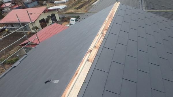 東京都中野区 屋根カバー工法(重ね葺き工事) 雪止め設置 (2)