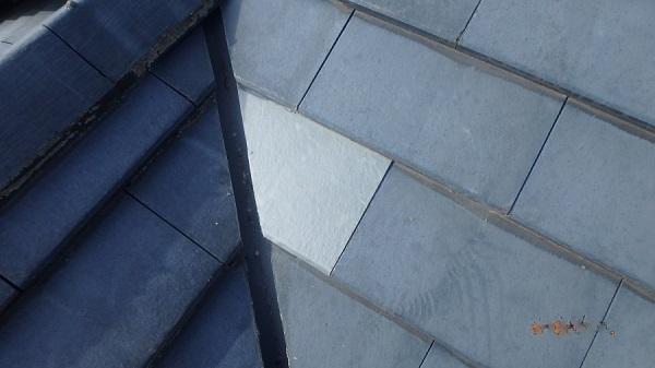 東京都中野区 屋根工事 壊れた屋根一部の修理 新品の瓦に交換 (3)