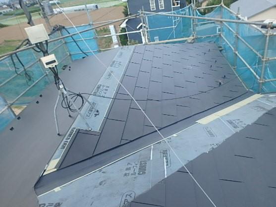 東京都中野区 屋根カバー工法(重ね葺き工事) ルーフィング 雪止め ガルバリウム鋼板 2