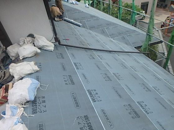 東京都杉並区 屋根葺き直し工事 瓦屋根撤去、下地作り直し (2)