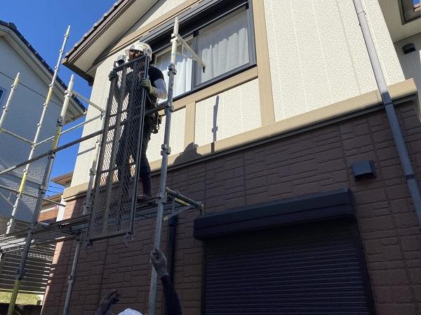 東京都世田谷区 屋根塗装 仮説足場設置 足場の重要性 (3)