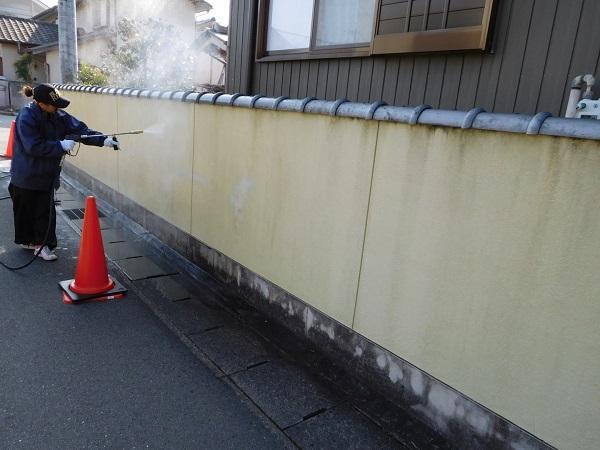 東京都世田谷区 外壁塗装 外構塗装 高圧洗浄 巾木塗装 (2)