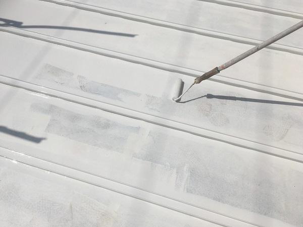 東京都杉並区 ベランダ床 遮熱塗装 (3)
