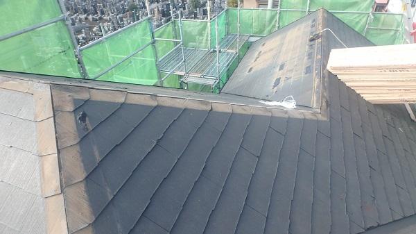 東京都中野区 屋根工事 棟板金、太陽光パネル撤去 野地板張り (2)