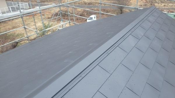 東京都中野区 屋根カバー工法(重ね葺き工事) 雪止め設置 (3)
