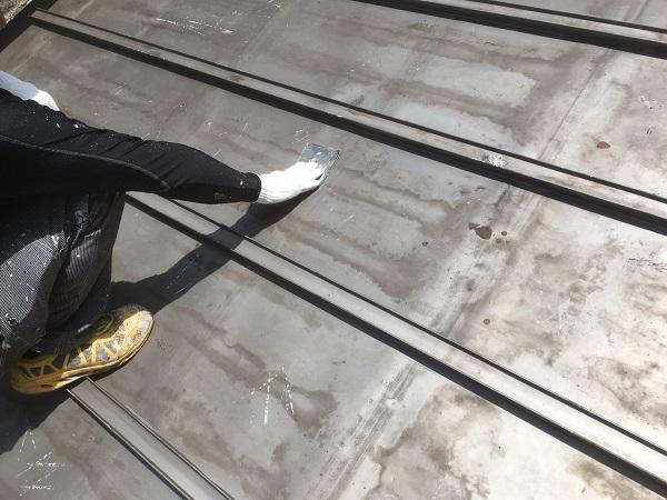 東京都中野区 屋根塗装 ベランダ床塗装 高圧洗浄 (4)