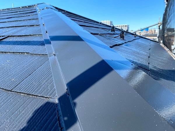 東京都杉並区 屋根塗装 タスペーサー 日本ペイント パーフェクトトップ ラジカル制御式 (1)