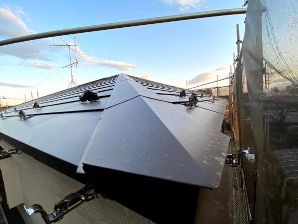 東京都杉並区 屋根重ね葺き工事 スレート屋根 (3)