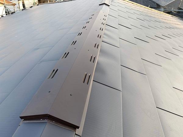 東京都世田谷区 屋根カバー工法(棟板金、雨押え) (2)