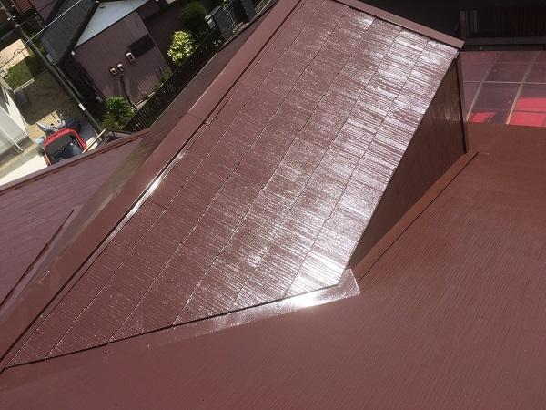 東京都中野区 屋根塗装 タスペーサー 日本ペイント 遮熱塗料 サーモアイ (6)