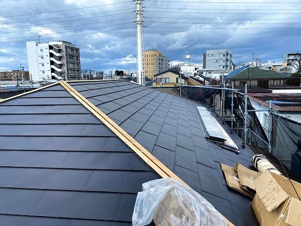 東京都杉並区 屋根リフォーム ガルバリウム鋼板重ね葺き (1)