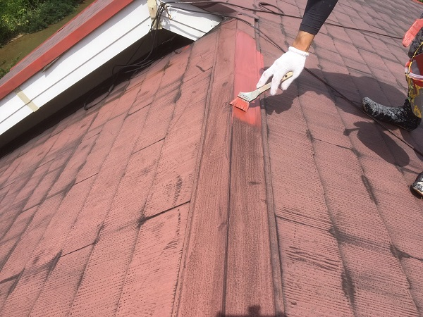 東京都中野区 屋根塗装 タスペーサー 日本ペイント 遮熱塗料 サーモアイ (1)