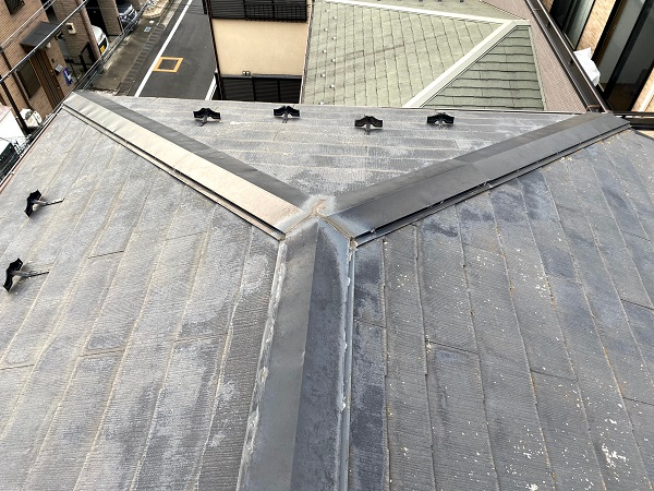 東京都杉並区 屋根カバー工法工事 ガルバリウム鋼板 (4)