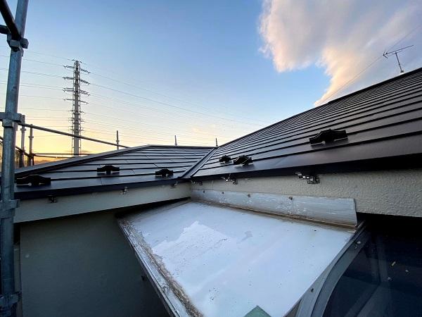 東京都杉並区 屋根重ね葺き工事 スレート屋根 (2)