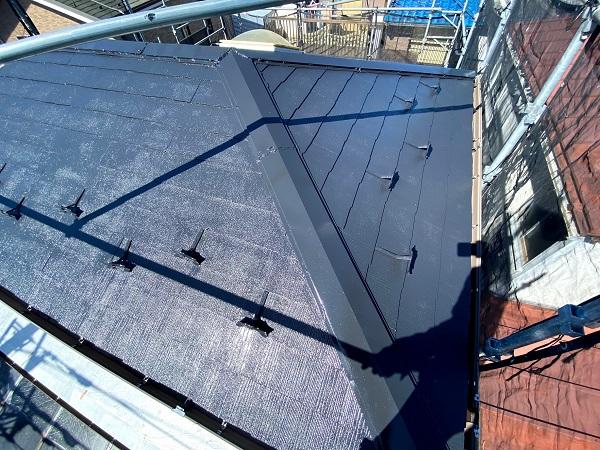 東京都杉並区 屋根塗装 タスペーサー 日本ペイント パーフェクトトップ ラジカル制御式 (4)