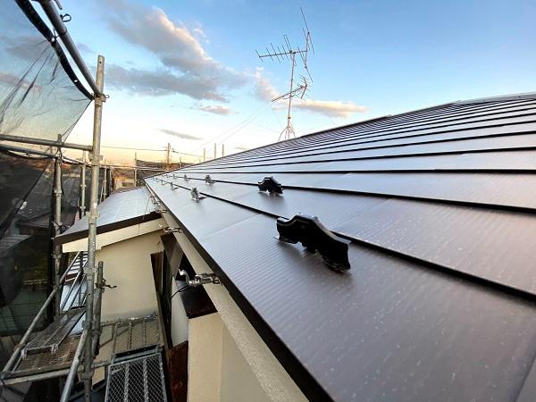 東京都杉並区 屋根重ね葺き工事 スレート屋根 (1)