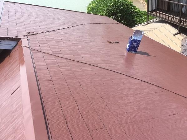東京都中野区 屋根塗装 タスペーサー 日本ペイント 遮熱塗料 サーモアイ (5)