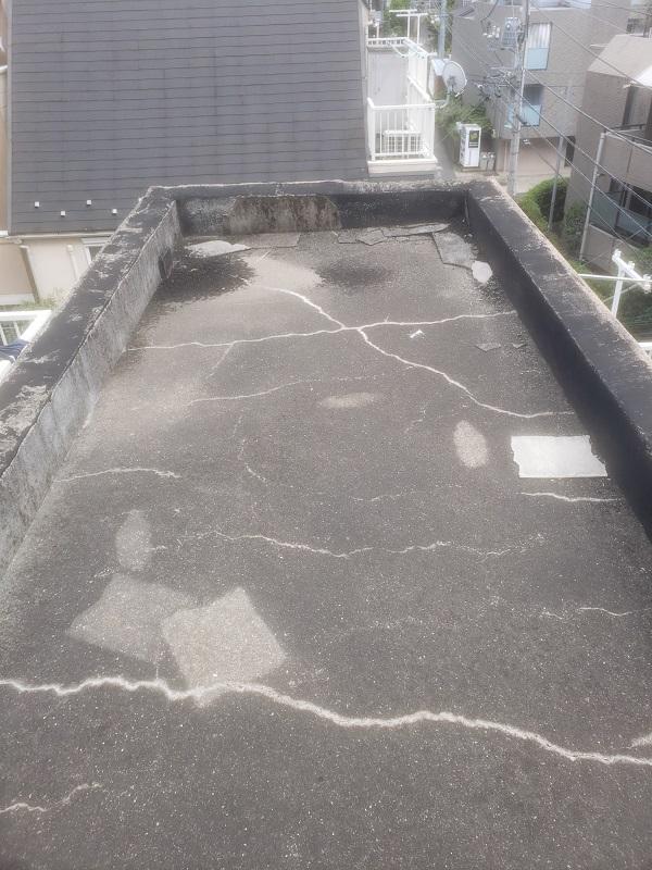 東京都中野区 防水工事 雨漏り 陸屋根 事前調査 (2)