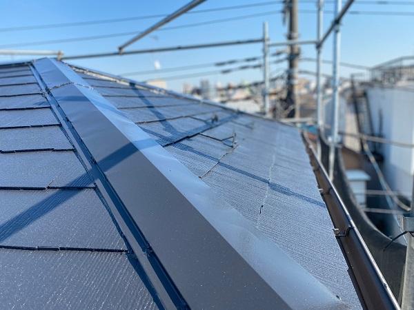 東京都杉並区 屋根塗装 タスペーサー 日本ペイント パーフェクトトップ ラジカル制御式 (2)