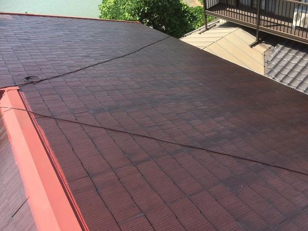 東京都中野区 屋根塗装 タスペーサー 日本ペイント 遮熱塗料 サーモアイ (3)