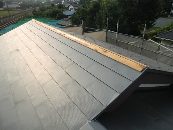 東京都杉並区 屋根葺き替え工事 ルーフィング張り ガルバリウム鋼板 (3)