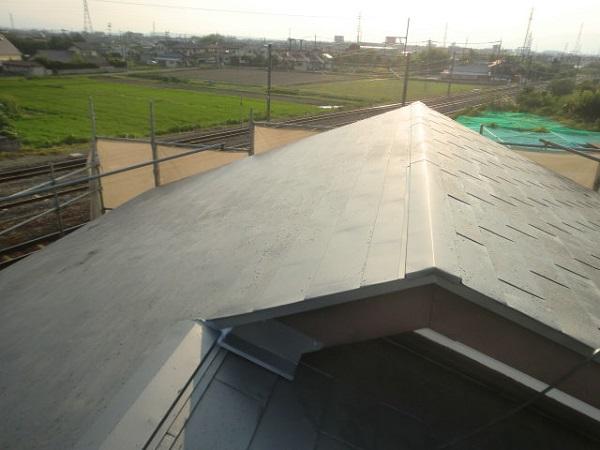 東京都杉並区 屋根葺き替え工事 ルーフィング張り ガルバリウム鋼板 (4)