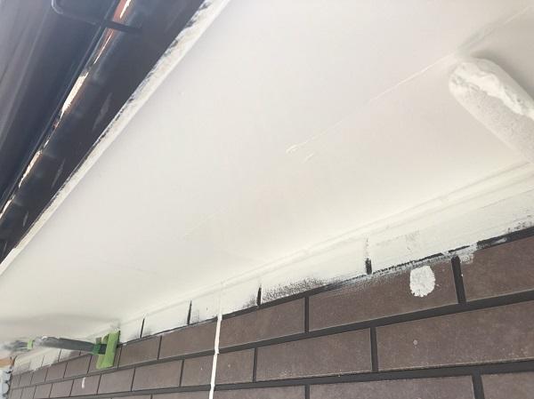 東京都杉並区 外壁塗装工事 軒天塗装 (4)