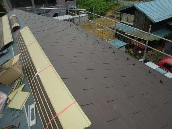 東京都世田谷区 屋根葺き直し工事 スタンビー333フラットタイプ (4)