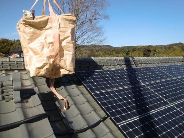 東京都中野区 和形瓦屋根の棟瓦取り直し工事 (1)